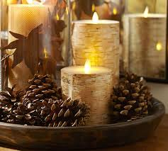 House decorated for the holidays - candles - 15 Nov.
