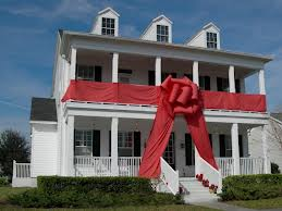 house with ribbon on it