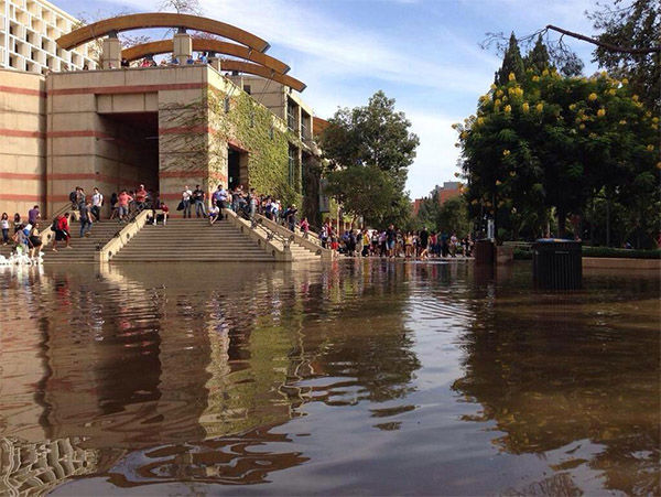 UCLA broken water main 1 August 2014