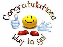 congratulations 15 March 2015