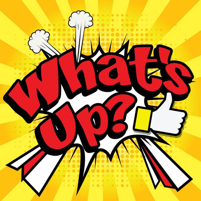 57389451 - art comics icon what's up typography